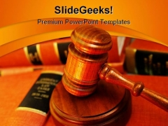 Book Pile Law PowerPoint Template 1110