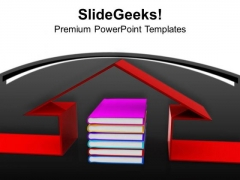 Book Under 3d House Education PowerPoint Templates Ppt Backgrounds For Slides 0113