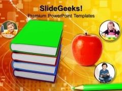 Book With Apple Education PowerPoint Templates And PowerPoint Themes 0812