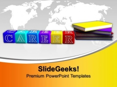 Books And Alphabet Cubes Future PowerPoint Templates And PowerPoint Themes 1012