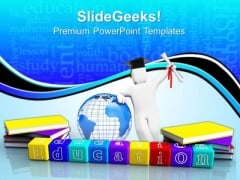 Books And Alphabet Education PowerPoint Templates And PowerPoint Themes 0812