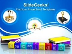 Books And Alphabet Metaphor PowerPoint Templates And PowerPoint Themes 0812
