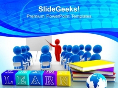 Books And Alphabet Success PowerPoint Templates And PowerPoint Themes 0812
