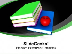 Books And Apple Children Education Future PowerPoint Templates Ppt Backgrounds For Slides 1212