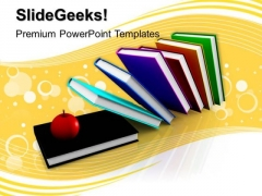 Books And Apple Education PowerPoint Templates And PowerPoint Themes 1012
