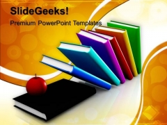 Books And Apple Future PowerPoint Templates And PowerPoint Themes 1012