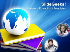Books And Globe Future PowerPoint Templates And PowerPoint Themes 0812