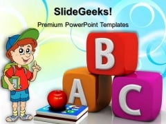 Books With Child Education PowerPoint Templates And PowerPoint Themes 0512