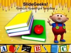Books With Child Education PowerPoint Templates And PowerPoint Themes 1112