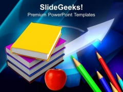 Books With Pencil Education PowerPoint Templates And PowerPoint Themes 0812