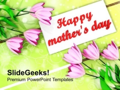 Bouquet Of Tulips On Mothers Day PowerPoint Templates Ppt Backgrounds For Slides 0513