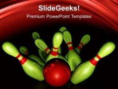 Bowling Game PowerPoint Templates And PowerPoint Themes 0512