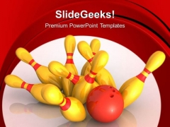 Bowling Game Success PowerPoint Templates And PowerPoint Themes 0512