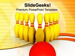 Bowling Game Success PowerPoint Templates And PowerPoint Themes 0612