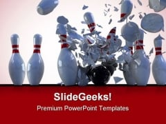Bowling Pins Destroy Game PowerPoint Themes And PowerPoint Slides 0511