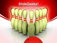 Bowling Success Targets PowerPoint Templates And PowerPoint Themes 0712