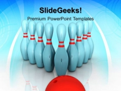 Bowling Targets Teamwork PowerPoint Templates And PowerPoint Themes 0412