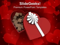 Box Of Heart With Chocolates PowerPoint Templates Ppt Backgrounds For Slides 0213