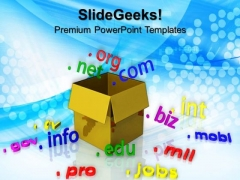 Box With Domain Communication PowerPoint Templates And PowerPoint Themes 0712