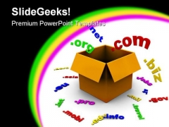 Box With Domains Internet PowerPoint Templates And PowerPoint Backgrounds 0211