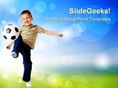 Boy Hitting The Ball Sports PowerPoint Themes And PowerPoint Slides 0711