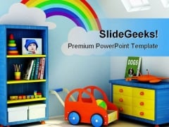 Boys Room Children PowerPoint Backgrounds And Templates 1210