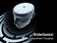 Brain People PowerPoint Template 0910