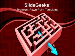 Breaking Through The Maze Business PowerPoint Templates And PowerPoint Themes 0812