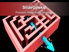 Breaking Through The Maze Completing Target PowerPoint Templates Ppt Backgrounds For Slides 0113