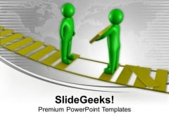 Bridge The Gap With Right Skills PowerPoint Templates Ppt Backgrounds For Slides 0613