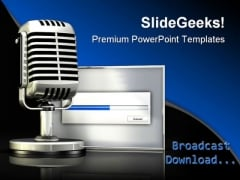 Broadcast Download Global PowerPoint Backgrounds And Templates 1210