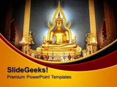 Buddha Religion PowerPoint Templates And PowerPoint Themes 0712