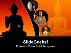 Buddha Statue Religion PowerPoint Templates And PowerPoint Themes 0712