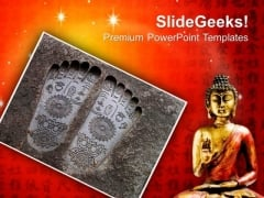 Buddhism Budha Religion PowerPoint Templates And PowerPoint Themes 0712
