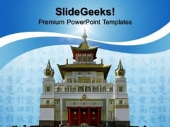 Buddhist Temple Religion PowerPoint Templates And PowerPoint Themes 0812
