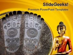 Budha Religion PowerPoint Themes And PowerPoint Slides 0711