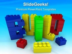 Build Word In Toy Education PowerPoint Templates And PowerPoint Backgrounds 0111