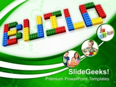 Build Word With Lego Blocks PowerPoint Templates And PowerPoint Themes 1012