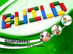 Build Word With Lego PowerPoint Templates And PowerPoint Themes 1012