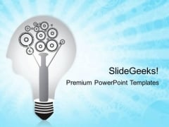 Bulb With Gears Business PowerPoint Templates And PowerPoint Themes 0212