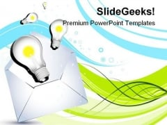 Bulb With Idea Technology PowerPoint Templates And PowerPoint Backgrounds 0211