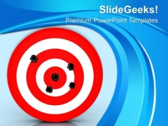 Bullet Hole On Target Business PowerPoint Templates Ppt Backgrounds For Slides 0113