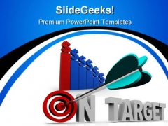 Bulls Eye Business PowerPoint Themes And PowerPoint Slides 0411