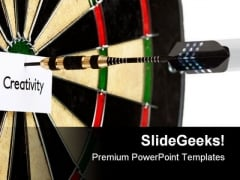 Bulls Eye Creativity Game PowerPoint Themes And PowerPoint Slides 0511