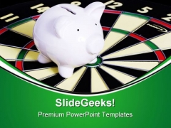 Bulls Eye For Saving Finance PowerPoint Themes And PowerPoint Slides 0211