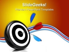 Bulls Eye Target Business PowerPoint Themes And PowerPoint Slides 0511