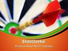 Bullseye Business Game PowerPoint Themes And PowerPoint Slides 0711