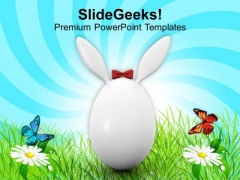 Bunny Symbol Of Easter Day Holiday PowerPoint Templates Ppt Backgrounds For Slides 0313