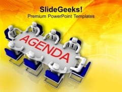 Business Agenda On Various Topics PowerPoint Templates Ppt Backgrounds For Slides 0413