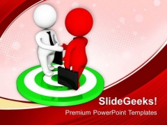 Business And Marketing Target Meetings PowerPoint Templates Ppt Backgrounds For Slides 0613